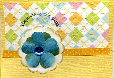 especially for you card made with embossing, stamping and punch art flowers