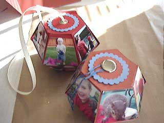 popup photo cube made with Bigz 3D ball die