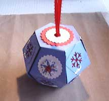 popup ball holiday ornament made with Bigz 3D ball die
