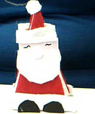 standup triangle santa claus card