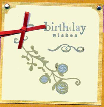 simple stamped birthday card