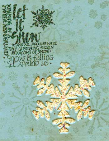 let it snow card from CST