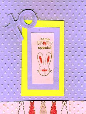 easter card with stamped images