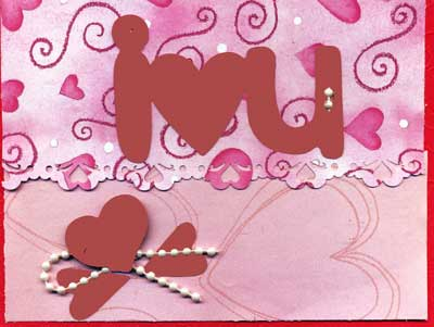 I Love You Valentine card This hand made I Love You Valentine card is