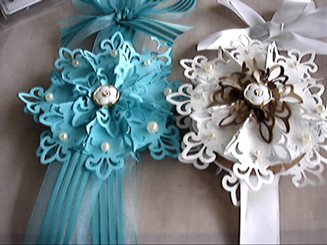 holiday ornaments made with fleur de lis pendant from Nestabilities