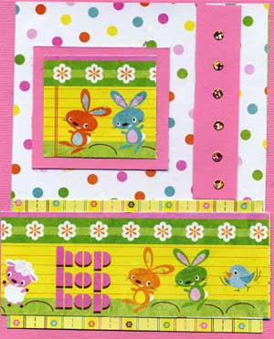 kids easter card with rhinestones