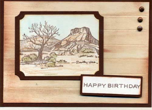 birthday card with dessert scene