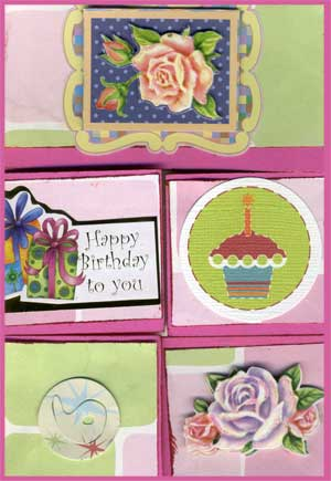 birthday card with Dutch triple fold