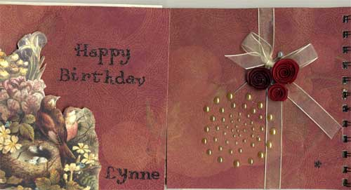 front of custom birthday card with front opening