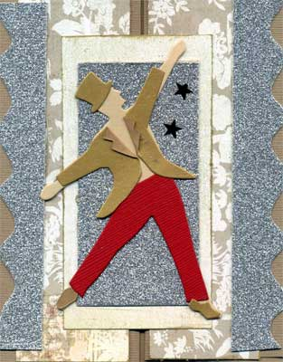 card with dancing man