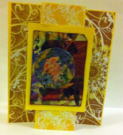 Thanksgiving card with waxed embellishment