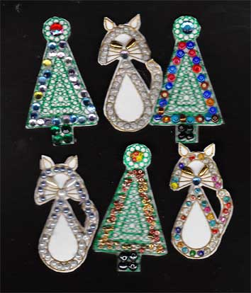 stamped holiday ornaments