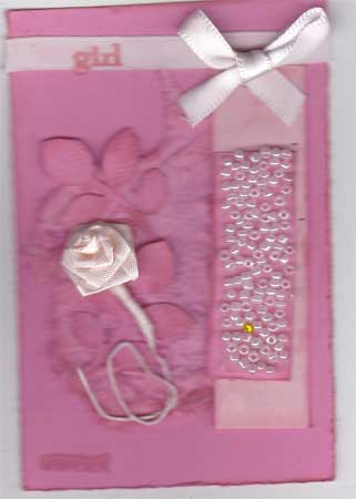 feminine ATC in shades of pink