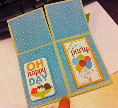 pop up box birthday card, open