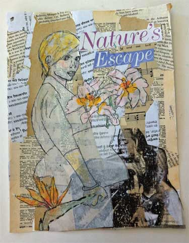 lifebook 2014 mixed media art collage