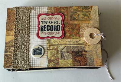front of mini star book with travelog theme
