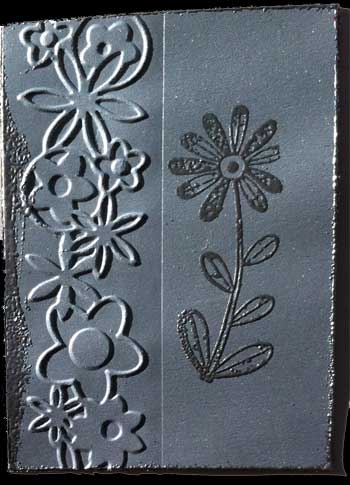 Artist trading card in silver colors