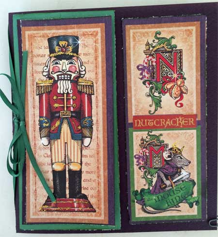 christmas card made with Graphic 45 Nutcracker Suite papers